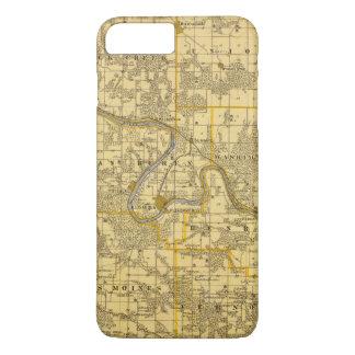 Map of Van Buren County, State of Iowa iPhone 8 Plus/7 Plus Case