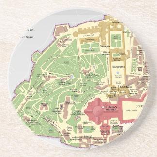 Map of Vatican City Coasters