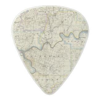 Map of Venango County Oil Regions Acetal Guitar Pick