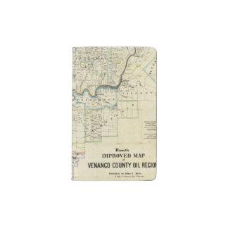 Map of Venango County Oil Regions Pocket Moleskine Notebook