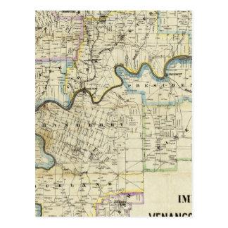 Map of Venango County Oil Regions Postcard