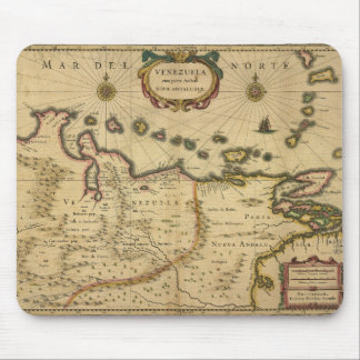 Map of Venezuela by Hendrik Hondius (1630) Mouse Pad