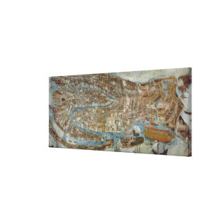 Map of Venice, first half of 17th century (panel) Canvas Print
