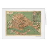 Map of Venice, Italy around 1886 Cards