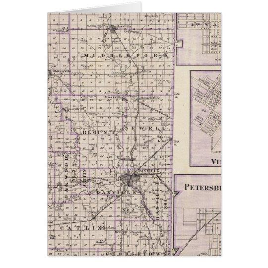 Map of Vermilion County, Mason City Card
