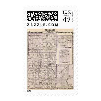 Map of Vermilion County, Mason City Postage