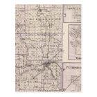 Map of Vermilion County, Mason City Postcard