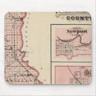 Map of Vermillion County with Newport Mouse Pad