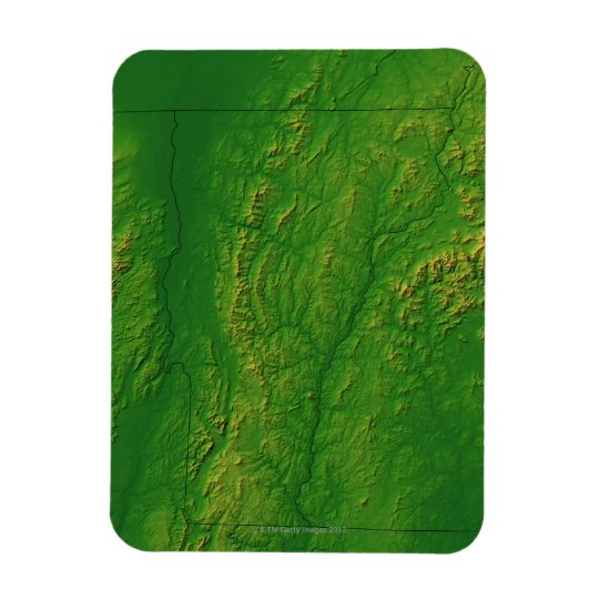 Map of Vermont 2 Magnet