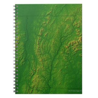 Map of Vermont 2 Spiral Notebook
