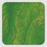 Map of Vermont 2 Square Sticker