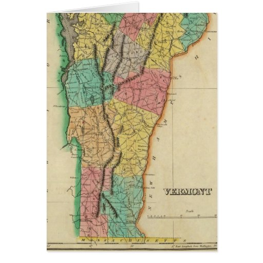 Map Of Vermont Card
