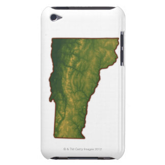 Map of Vermont iPod Touch Case-Mate Case