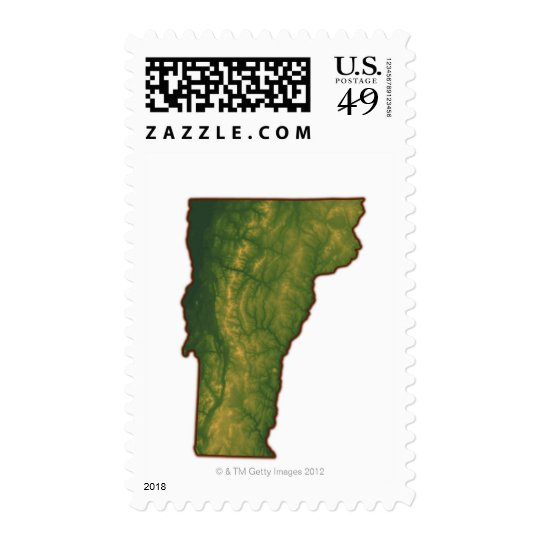 Map of Vermont Postage