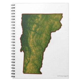 Map of Vermont Spiral Notebook