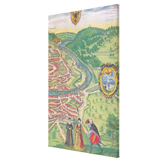 Map of Vienna Canvas Print
