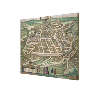 Map of Vilnius, Lithuania, from 'Civitates Orbis T Canvas Print