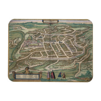 Map of Vilnius, Lithuania, from 'Civitates Orbis T Magnet