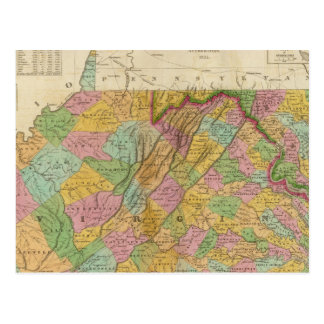 Map Of Virginia And Maryland Postcard