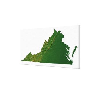 Map of Virginia Canvas Print