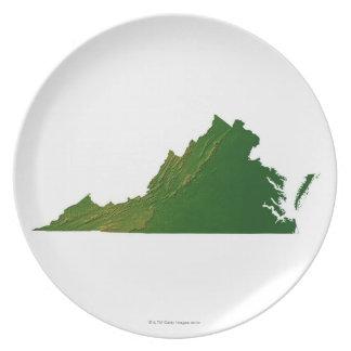 Map of Virginia Dinner Plate