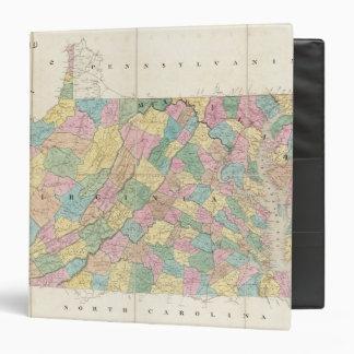 Map of Virginia, Maryland and Delaware Vinyl Binder