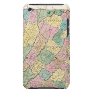 Map of Virginia, Maryland and Delaware iPod Touch Case