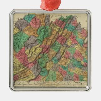 Map Of Virginia Metal Ornament