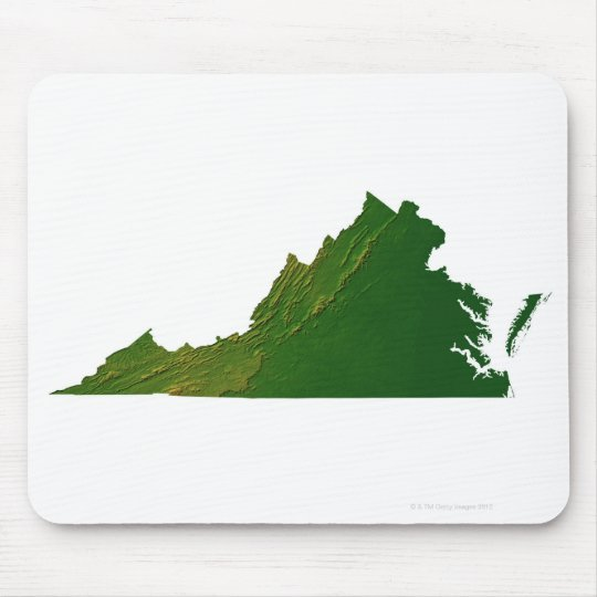 Map of Virginia Mouse Pad