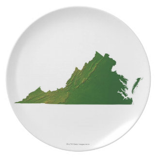 Map of Virginia Party Plates