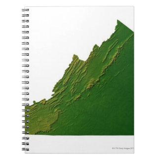 Map of Virginia Spiral Notebook