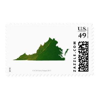 Map of Virginia Stamp