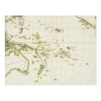 map of Volcano Girdle Postcard