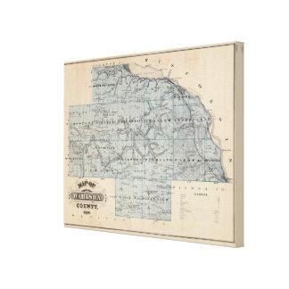 Map of Wabasha County, Minnesota Stretched Canvas Prints