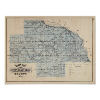 Map of Wabasha County, Minnesota Poster