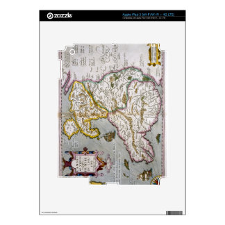 Map of Wales, published c.1630 (hand-coloured engr iPad 3 Skin