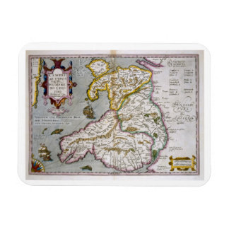 Map of Wales, published c.1630 (hand-coloured engr Rectangular Magnets