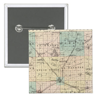 Map of Walworth County, State of Wisconsin Pinback Button