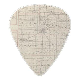 Map of Warren County, Abingdon Acetal Guitar Pick