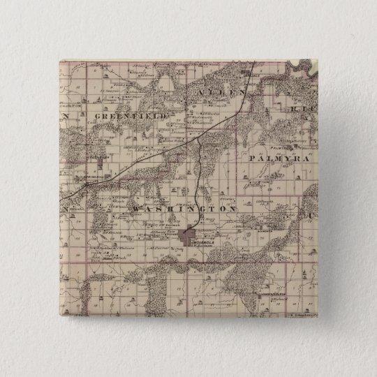 Map of Warren County, State of Iowa Pinback Button
