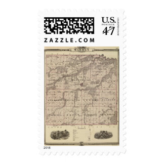 Map of Warren County, State of Iowa Postage