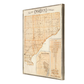 Map of Warren County with Plan of West Lebanon Canvas Print