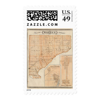 Map of Warren County with Plan of West Lebanon Postage