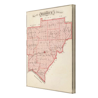 Map of Warrick County Canvas Print