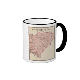 Map of Warrick County Coffee Mugs