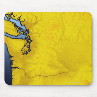 Map of Washington 2 Mouse Pad