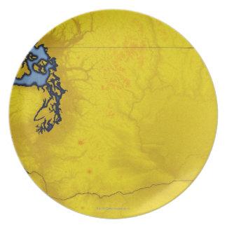Map of Washington 2 Plate