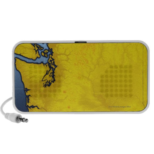 Map of Washington 2 Portable Speaker