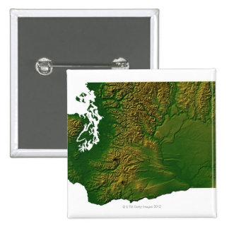 Map of Washington 3 Pinback Button
