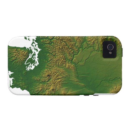 Map of Washington 3 Case-Mate iPhone 4 Case